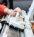 Knitting machine Royalty Free Stock Image