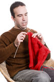 Knitting Man Stock Photos