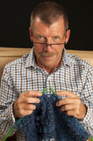 Knitting Man Stock Photos
