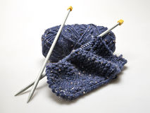 Knitting materail and handcraft tools Royalty Free Stock Photo