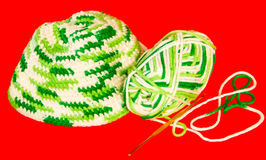 Knitting material Stock Images