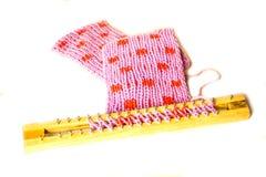 Knitting materials Royalty Free Stock Photo