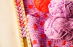 Knitting materials Royalty Free Stock Image