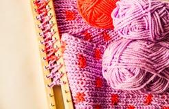 Knitting materials Royalty Free Stock Image