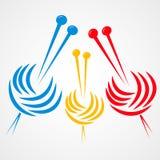 Knitting Needles Royalty Free Stock Images