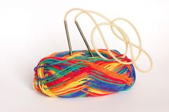Knitting needles Stock Photography