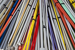 Knitting Needles of Assorted Colors and Sizes Royalty Free Stock Images