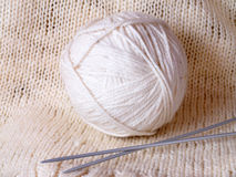 Knitting needles. Ball of thread knitting needles Stock Images