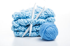 Needles and yarn Royalty Free Stock Images
