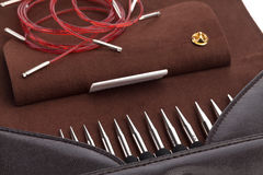 Knitting needles set Stock Photography