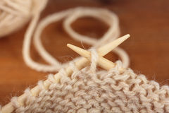 Knitting needles Stock Photo