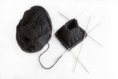 Knitting with needles Royalty Free Stock Images
