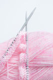 Knitting Needles and Wool Stock Photography