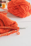 Knitting Needles and Wool Stock Photos