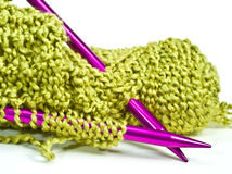 Knitting Needles and Yarn Royalty Free Stock Photo