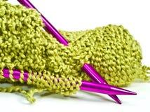 Knitting Needles and Yarn Royalty Free Stock Photo