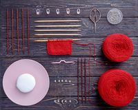 Knitting and knitting needles, Stock Images