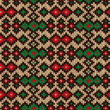 Knitting ornate seamless motley pattern Royalty Free Stock Image