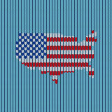 Knitting pattern american flag Stock Photos