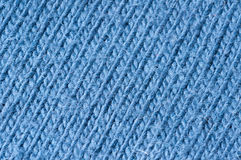 Knitting pattern blue wool Royalty Free Stock Photography