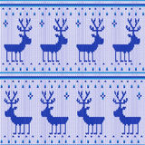 Knitting pattern Royalty Free Stock Images