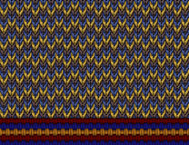 Knitting pattern. This is design for fabric printing Royalty Free Stock Image