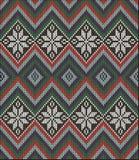 Knitting pattern sweater battlement Royalty Free Stock Images
