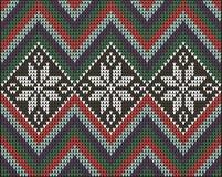 Knitting pattern sweater battlement2 Royalty Free Stock Photo