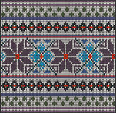 Knitting pattern sweater flower Stock Photo