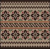 Knitting pattern sweater flowers 22577 Stock Image