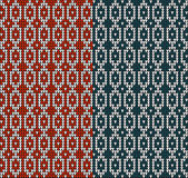 Knitting pattern sweater red blue3 Royalty Free Stock Images
