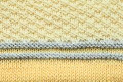 Knitting patterns Royalty Free Stock Image