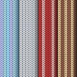 Knitting patterns set Stock Photography