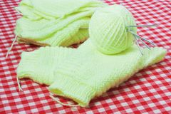 Knitting the product Stock Images