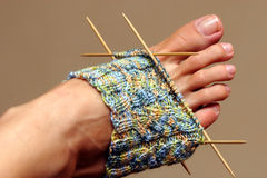 Knitting in Progress Royalty Free Stock Photo