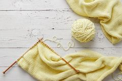 Knitting project in progress Royalty Free Stock Photography