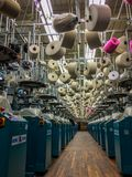 Knitting Room Inside Textile Mill stock image
