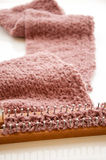 Knitting scarf Stock Photos