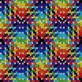 Knitting seamless multicolour pattern Stock Image