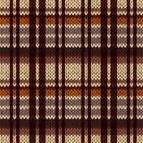 Knitting seamless pattern in brown, beige, orange and coffee hue Royalty Free Stock Image