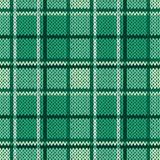 Knitting seamless pattern in cool green hues Royalty Free Stock Photos