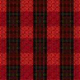 Knitting seamless pattern dark red and green hues. Knitting seamless vector pattern with parallel wide lines in dark red and green colors on the bright Stock Photography