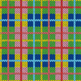 Knitting seamless pattern in different hues. Knitting seamless vector pattern with perpendicular lines as a woollen Celtic tartan plaid or a knitted fabric Stock Photos