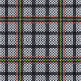Knitting seamless pattern in muted pink, green and grey hues Royalty Free Stock Photography