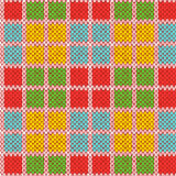Knitting seamless pattern in various bright colors Royalty Free Stock Photos