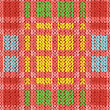 Knitting seamless pattern in various colors Stock Photo