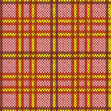 Knitting seamless pattern in warm colors Stock Photography