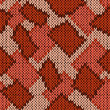 Knitting seamless scrappy pattern in warm hues Stock Photography