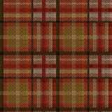 Knitting seamless pattern. Knitting seamless vector pattern with perpendicular lines as woollen Celtic tartan plaid or knitted fabric texture in khaki, red, pink Royalty Free Stock Photos