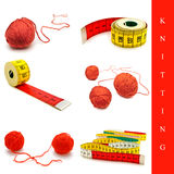 Knitting set Stock Image